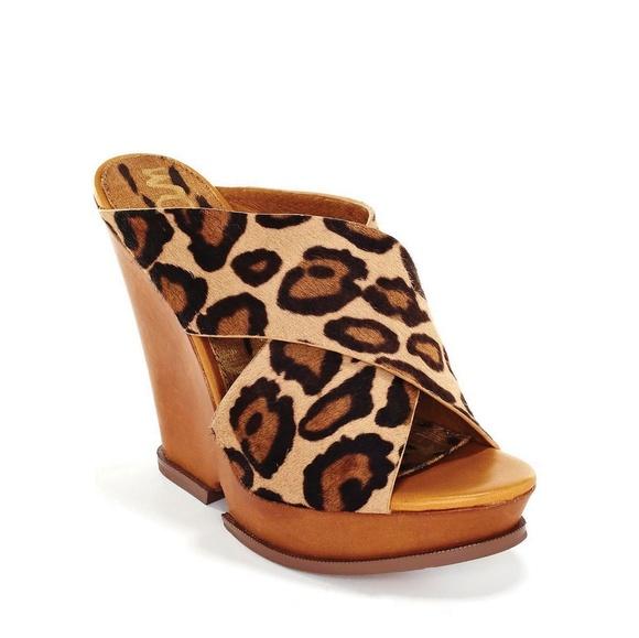 eed7ec2b338796 SAM EDELMAN Jorgia black brown leopard print calf.  M 5c3cb2b803087c5420e36d68